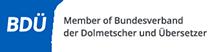 BDÜ Logo – Übersetzungen Heilbronn