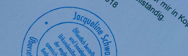 Jacqueline Schwarz Übersetzung Heilbronn